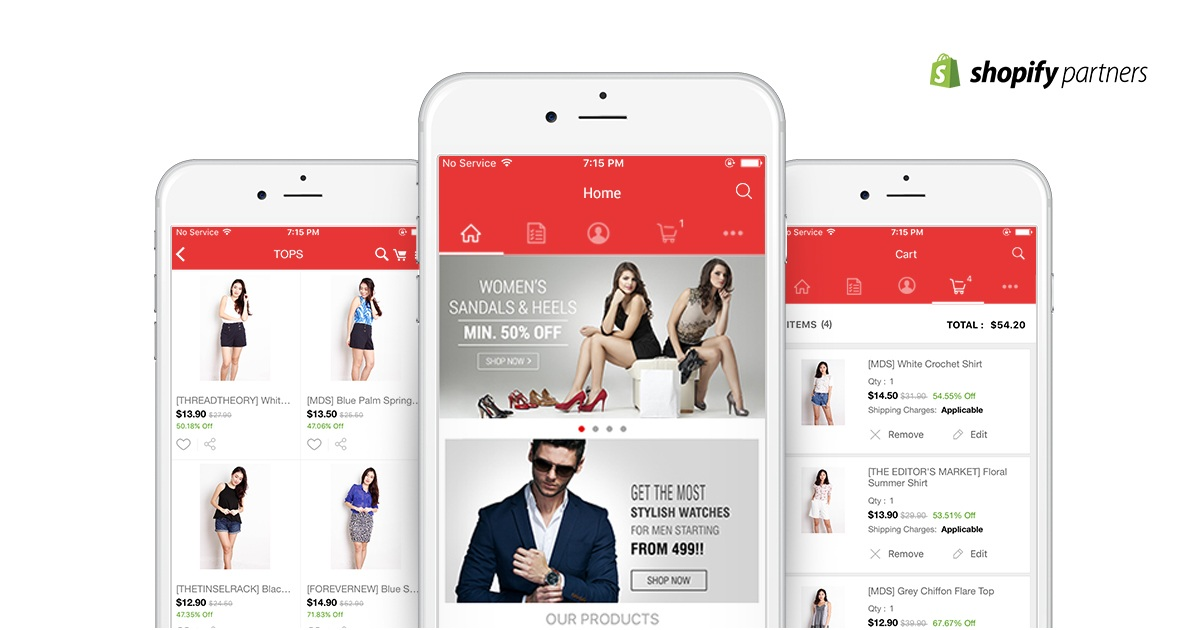 eCommerce Mobile Android and iOS Apps with PlobalApps
