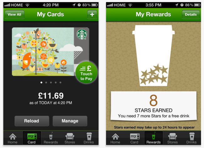 starbucks referral - growth of mobile apps