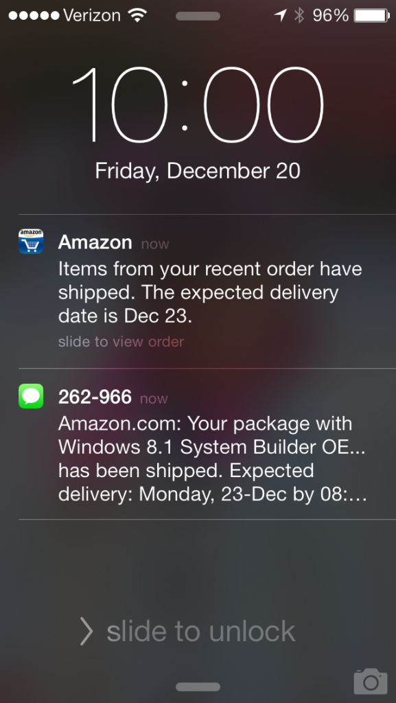 amazon push notification