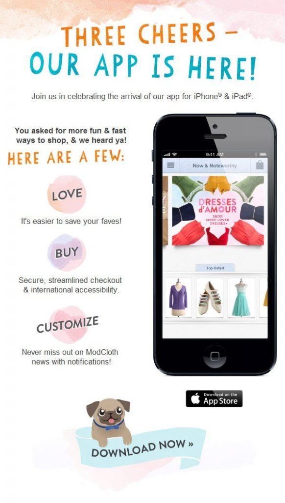 email marketing shopify store mobile app