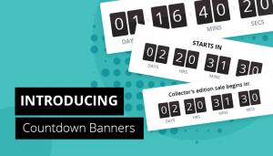Flash sales countdown banners