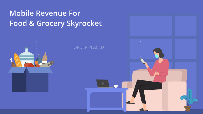 eCommerce in the time of COVID19: Mobile App Revenue For Food & Grocery Sector