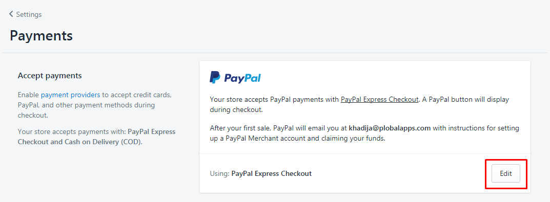 How to set up PayPal on Shopify -