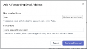 how to setup email on Shopify-adding-forwarding-email-address